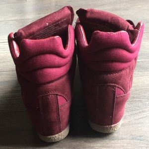 Xhilaration Shoes - Merlot Red Heeled Sneakers